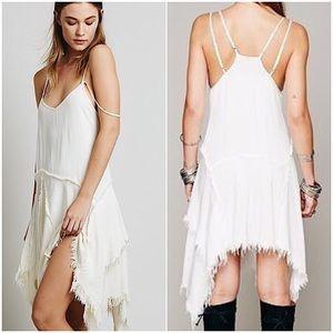 Free People • Shredded Slip/Dress • Ivory - Medium